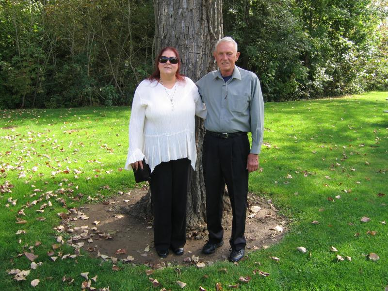 Debbie Phelps, 4th generation Restoration Master, pictured with her father